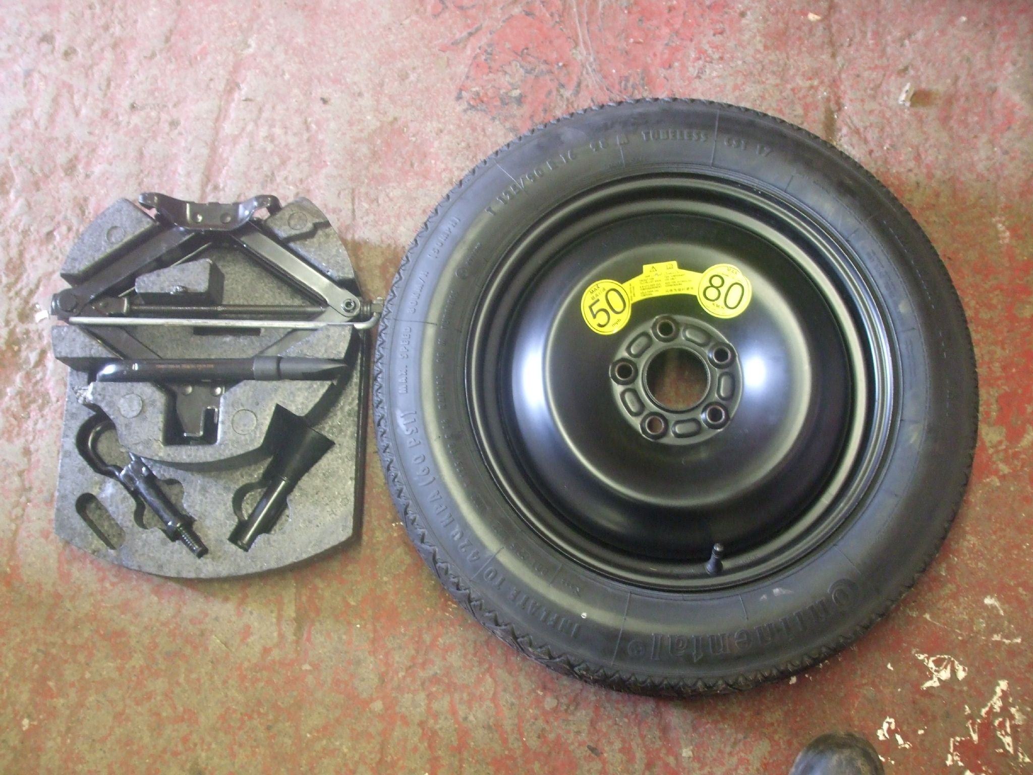 FORD MONDEO MK 4 TOOL KIT SPACE SAVER STEEL WHEEL 16 INC ...