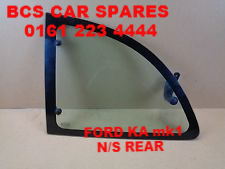 FORD  KA  mk1  REAR WINDOW  PASSENGER SIDE  1/4 GLASS   1996 - 2004  USED
